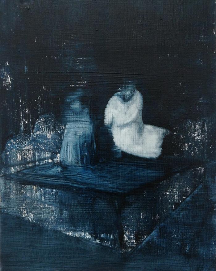 4. Pool, oil on wood panel, 10in x 8in, 2013