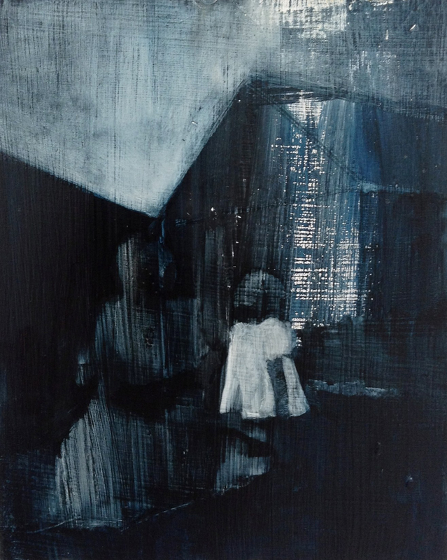 5. Mother and Child, oil on wood panel, 10in x 8in, 2013